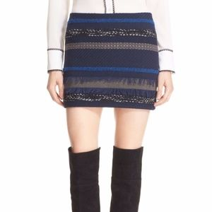 Alice + Olivia Elana Textured Mini Skirt